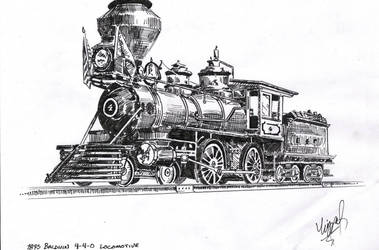 Baldwin 4-4-0 Locomotive by B24LIBERATOR