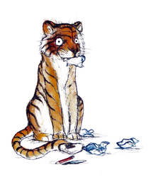scrap paper tiger by bonzaialsatian
