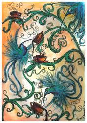 Hummingbird oblivion by bonzaialsatian
