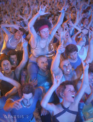 Concert Crowd Poses by joelegecko