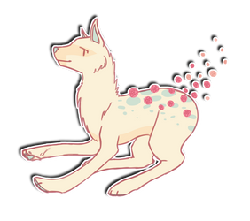Rose Dog Adopt - OPEN by Maes-adopts