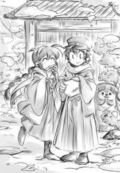 Snow and taiyaki by Akemimi
