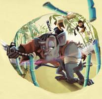 Unai, el mono samurai by ruth2m