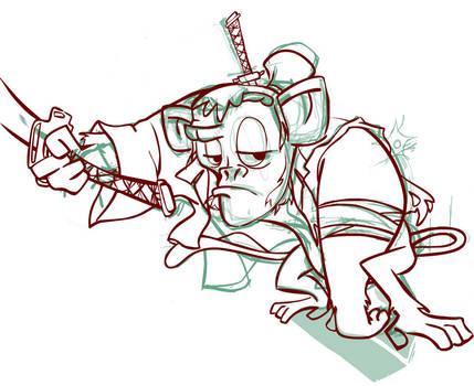Unai, mono samurai -sketch1- by ruth2m