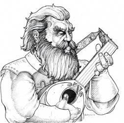 Dwarven Bard by Hypnoid