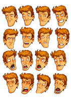 Character expression sheet by rafaelpimentel