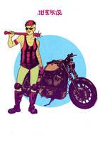Biker girl by rafaelpimentel