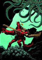 Hellboy poster design by rafaelpimentel