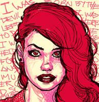 Redhair sketch by rafaelpimentel