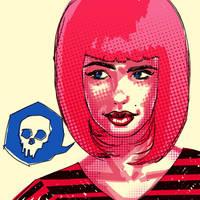 Pink hair death by rafaelpimentel