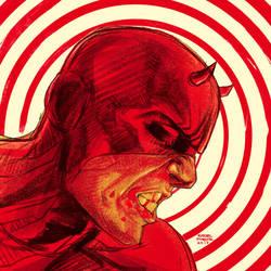 Rainy Saturday Daredevil sketch by rafaelpimentel