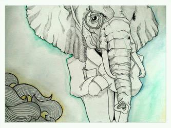 Brandon Boyd's Elephant by mariamars