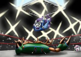Rarity Crab Smash! by otakuap