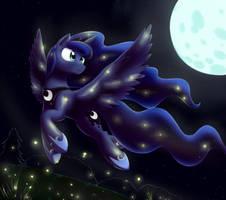 Luna's fireflies by otakuap