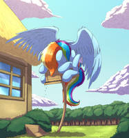 Rainbow Bird by otakuap