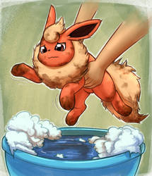 Flareon Bath by otakuap