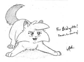 [UNICEF COMM] Graypaw Pencil Sketch for Bridgette by wanton-fox