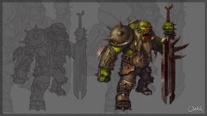 Orc warrior by Ork-artist