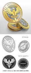 Cryptocurrency coin design3 by artblade477