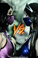 Mileena Vs Kitana - Mortal Kombat 9 by MorganaCosplay