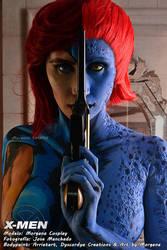 Jean Grey - Mystique Bodypaint by MorganaCosplay