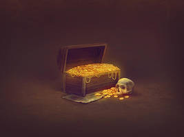 Treasure chest - game icon by brainchilds