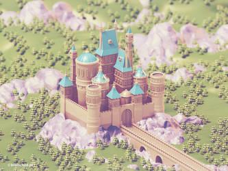 3d Castle | Low Poly by brainchilds
