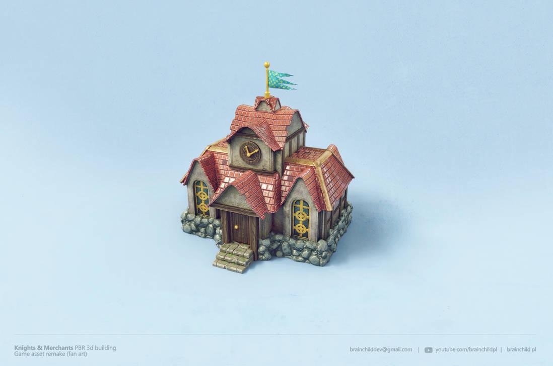 Knights and Merchants PBR model - (FAN ART) by brainchilds
