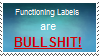 Functioning labels stamp by SassyHonks