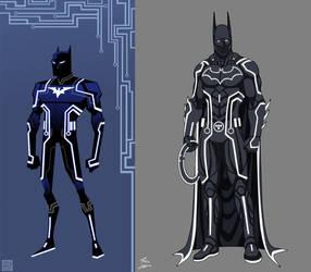 Batman Tron Commission By Phil Cho-djordjezutko co by retroreloads