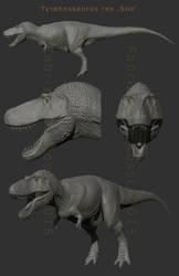 WIP - Tyrannosaurus rex 'Sue' by FabrizioDeRossi