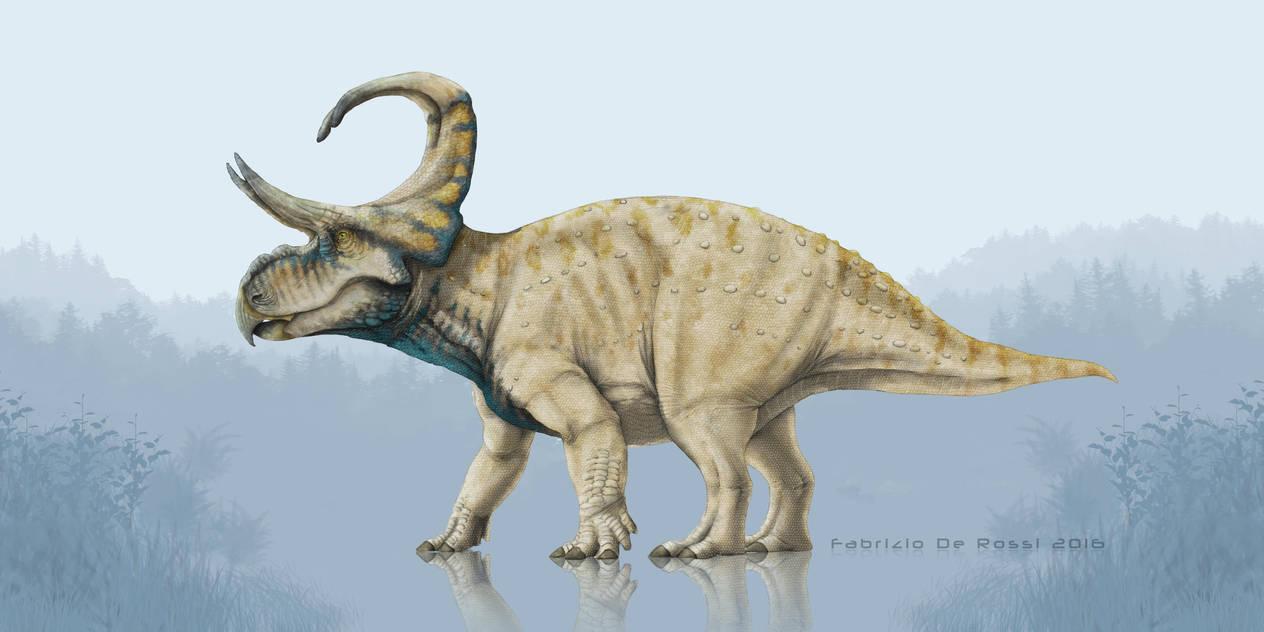 Earth Archives - Machairoceratops cronusi by FabrizioDeRossi