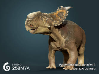 Earth Archives - Pachyrhinosaurus canadensis by FabrizioDeRossi