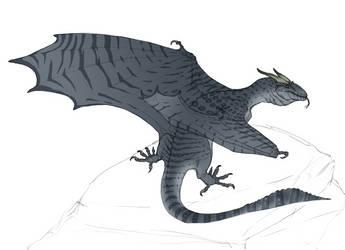 Speculative evolution - monitor lizard dragon by FabrizioDeRossi