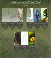 Commission Price List -OPEN- by TaimaTala