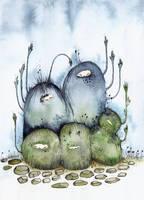 Moss beasties by Ohrinjii
