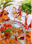 Over the bridge and across we go!   (Fantasy #1) by evangeline40003