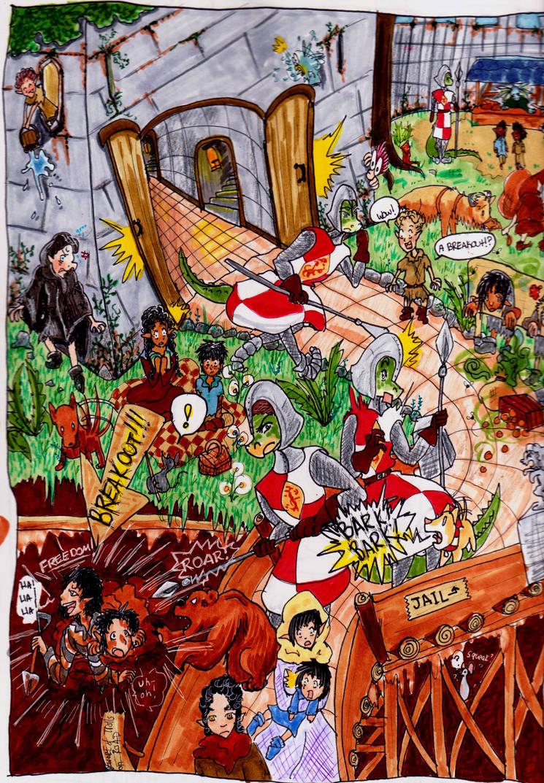 Jailbreak! (Fantasy Page #6) by evangeline40003