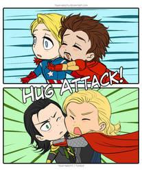 Hug Attack by Vivalski