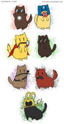 Avengers kitties by Vivalski