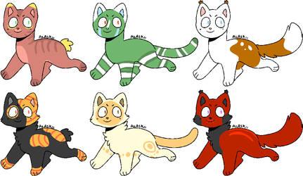 Adopt Batch: Cats by Voidfur