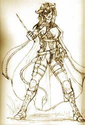 Raiah, Tiefling Thief by LadySaishan
