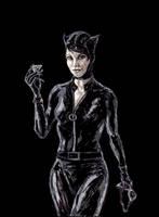 Catwoman sketch by kmillerillustration