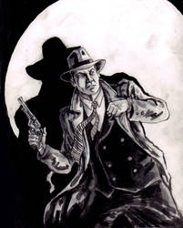 Dick Tracy by kmillerillustration