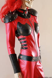 Dollface Twisted Metal Leather Catsuit Cosplay by auxcentral