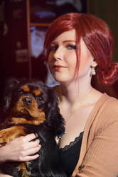 Triss and little dog by YURK-K