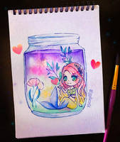 Little Jar Aquarium by EggyBacon04
