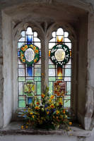 Church window - indoor by NickiStock