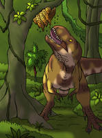 Treat for Tarbosaurus (Colored Version) by TyrannoNinja
