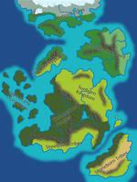 Conceptual World Map by TyrannoNinja
